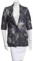 Elizabeth and James Metallic Floral Print Blazer