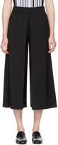 Alexander Wang Black High-waisted Fold Front Culottes