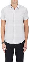 Theory Men's Fine-Grid-Print Cotton Shirt