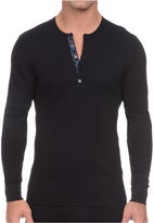 2xist Men's Tartan-Placket Tech Henley Shirt
