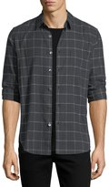 Theory Grid-Print Flannel Sport Shirt
