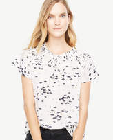 Ann Taylor Petaled Pleated Flutter Top