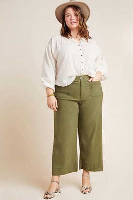 Anthropologie Wide-Leg Trousers By in Brown Size 25