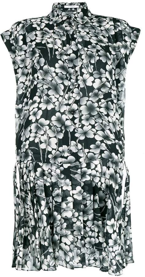 Givenchy floral pleated shirt dress