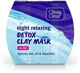 Clean & Clear Clean&Clear Night Relaxing Detox Bentonite and Kaolin Clay Face Mask