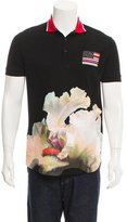 Givenchy Orchid Print Polo Shirt