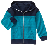 Gymboree Turquoise & Navy Color Block Zip-Up Hoodie - Boys