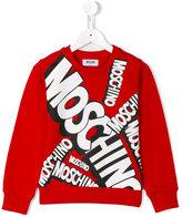 Moschino Kids - logo print sweatshirt - kids - Cotton - 8 yrs
