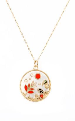 L'Atelier Nawbar Love Autumn 18K Yellow Gold Multi-Stone Necklace