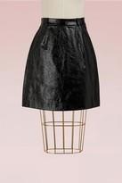 Carven Mini Leather Skirt