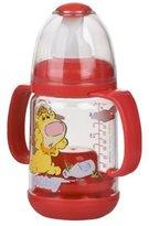 Nuby Infant Printed Bottle Feeder, Set of 2 - Red