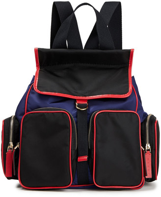 Marni Leather-trimmed Color-block Twill Backpack