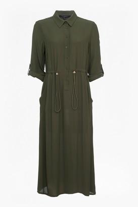French Connection Cecil Drape Midi Shirt Dress