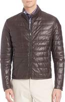 Saks Fifth Avenue Quilted Leather Jacket