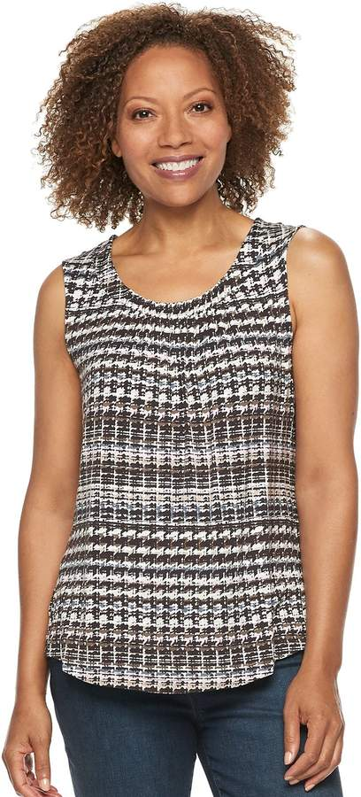 Croft & Barrow Petite Pleated Swing Tank