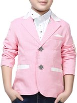 JiaYou Child Kid Boy Long Sleeve Lapel Button Blazer Jacket