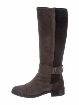 Aquatalia Suede Riding Boots Grey