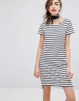 People Tree Organic Cotton Breton Stripe T-Shirt Dress