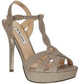 Nina Marzia Wonderland Glitter Fabric Stilettos
