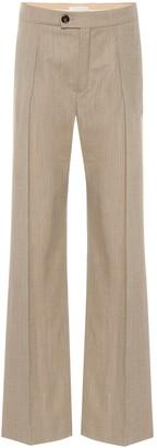 Chloé High-rise wool-blend pants