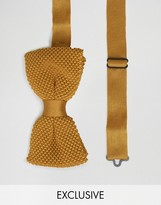 Noose & Monkey Knitted Bow Tie