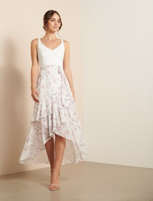 Ever New Everly Two-in-One Frill Midi Dress