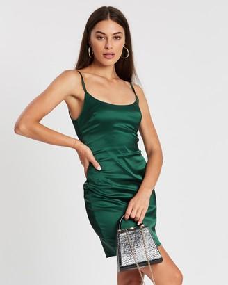 Missguided Stretch Satin Bodycon Mini Dress