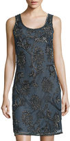 MSK Prelude Sleeveless Beaded Shift Dress