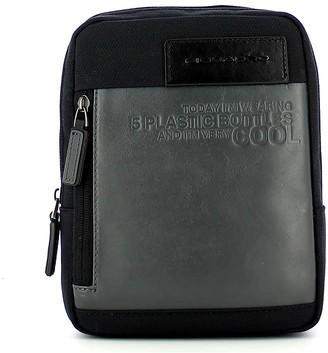 Piquadro Mens Black Crossbody Bag