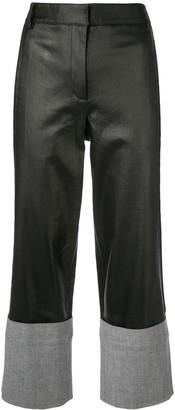 Tibi Denim Cuffed Straight Trousers