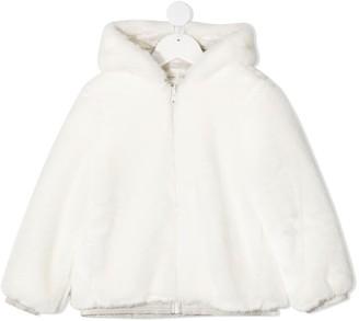 Simonetta Zip-Through Hooded Coat