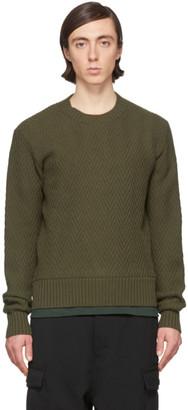 Ami Alexandre Mattiussi Black Merino Chevron Sweater