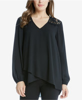 Karen Kane High-Low Faux-Wrap Top