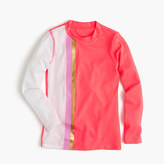 J.Crew Girls' rash guard in colorblock stripes