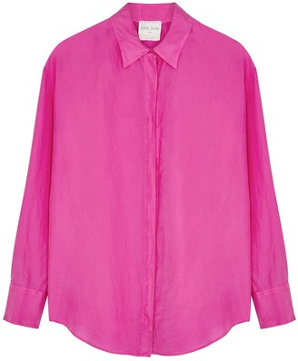 Forte Forte Fuchsia brushed silk shirt