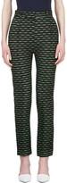 Jonathan Saunders Green & Black Jacquard Celeste Trousers