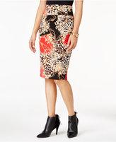 Thalia Sodi Printed Scuba Pencil Skirt, Only at Macy's