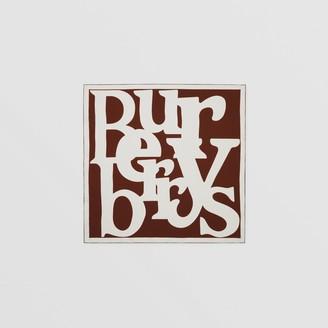 Burberry Archive Logo Print Silk Square Scarf