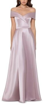 Xscape Evenings Petite Off-The-Shoulder Ballgown