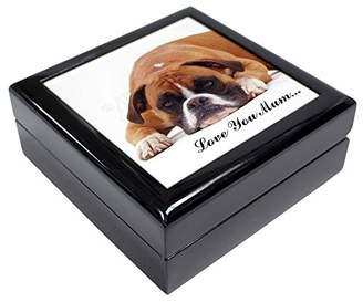 Red Boxer 'Love You Mum' Keepsake/Jewellery Box Christmas Gift