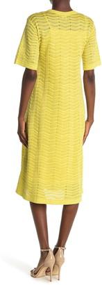 Missoni Chevron Metallic Knit Midi Dress