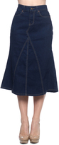 Be Girl Dark Indigo Contrast-Stitch Jean Skirt