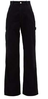 Acne Studios Munro High-rise Wide-leg Jeans - Womens - Black