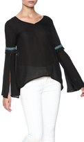 Entro Black Aztec Trim Top
