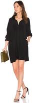 Norma Kamali NK Box Shirt Dress in Black