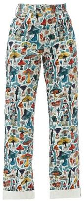 Charles Jeffrey Loverboy Art Mushroom-print Jeans - Multi