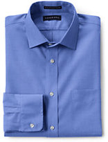 Classic Men's Slim Fit Solid Supima No Iron Pinpoint Spread Collar-Violet Lavender