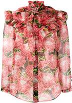 Gucci floral printed chiffon blouse - women - Silk - 38
