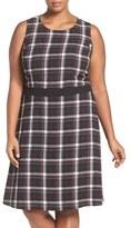 Vince Camuto Plus Size Women's Harbor Plaid Fit & Flare Dress