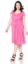 Motherhood Plus Size Fit And Flare Maternity Dress